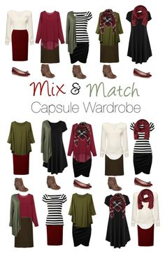 """Capsule Wardrobe: Burgundy and Olive"" by mary-grace-see ❤ liked on Polyvore featuring Dolce&Gabbana, WearAll, Kate Spade, MANGO, Journee Collection and plus size clothing"