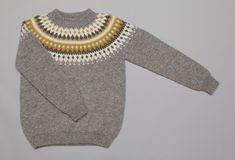 Varde Rundfelt genser Dame Grå Purl Soho, Men Sweater, Pullover, Knitting, Crochet, Pattern, Sweaters, Knits, Fashion