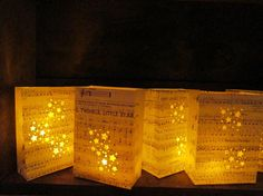 5 Twinkle Twinkle Little Star Luminaries, Star Luminaries, Sheet Music, Party Decor, Star Lanterns, Party Decor, Music Notes, Stars on Etsy, $50.00