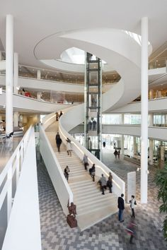 Nieuwegein City Hall and Cultural Center, image courtesy 3XN Architects | Photo by Adam M¢rk