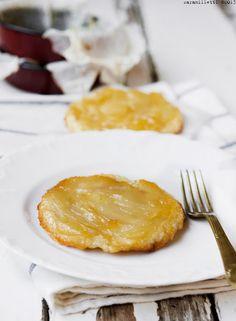 Individual pear tarte tatin