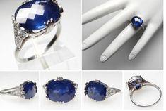 art deco vintage sapphire ring   http://indesignartandcraft.com/2012/11/antique-sapphire-engagement-rings-art-deco/