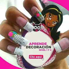 Uñas Crazy Nails, Fun Nails, Nice Nails, Fingernail Polish Designs, Nail Designs, Flower Nails, Nail Manicure, Nail Inspo, Summer Nails