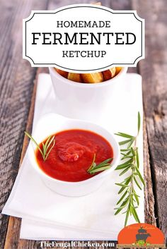 If you love ketchup, then this homemade fermented ketchup recipe is for you. If you have 5 minutes, you have time to make homemade ketchup. It's an easy way to introduce fermented foods to children! Great for summer recipes! Probiotic Foods, Fermented Foods, Real Food Recipes, Cooking Recipes, Healthy Recipes, Dishes Recipes, Recipes Dinner, Sauce Recipes, Homemade Ketchup