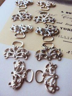** Classic jewellery Provides Triple Strand Necklace Bracelet Fastener Connectors Sil...