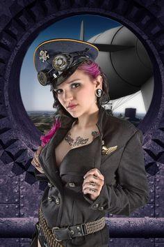 otherworldfantasy: New Fantasy Imported Fresh From The Other. Diesel Punk, Steampunk Clothing, Steampunk Fashion, Steam Girl, Steam Punk, Saloon Girls, Cybergoth, Dark Fashion, Woman Fashion