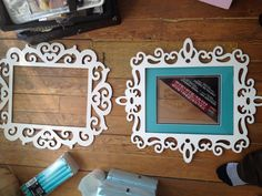 11x14 laser cut wood frames (maybe black with a burlap frame and a black S in the center!)