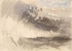 Sky and Sea, c. 1826-9, by J.M.W. Turner  Pencil and watercolor on paper