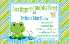 Items similar to Frog Party Lawn Sign on Etsy Frog Birthday Party, Baby Boy Birthday, Boy Birthday Parties, Birthday Party Invitations, 3rd Birthday, Lawn Sign, Party Themes, Party Ideas, Frogs