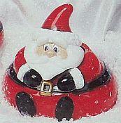 Santa candy dish