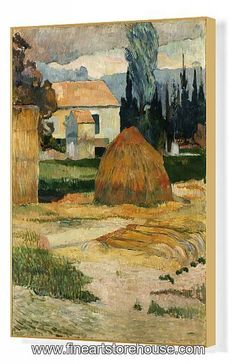 This canvas was the first one Gauguin painted during the two months he spent in Provence with Vincent van Gogh in 1888 Framed Print Framed, Poster, Canvas Prints, Puzzles, Photo Gifts and Wall Art Oil On Canvas, Canvas Wall Art, Wall Art Prints, Fine Art Prints, Poster Prints, Canvas Prints, Paul Gauguin, Matisse, Indianapolis Museum