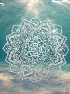 Mandala symbol,  #wallpaper  ocean,  #underwater