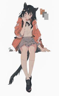 Anime Art Girl, Manga Girl, Female Characters, Anime Characters, Character Concept, Character Art, Estilo Anime, Art Reference Poses, Anime Outfits