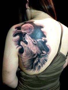 Wolf Tattoos have many positive meanings ,these tattoos are mostly used by women.Check out the best collection of Wolf tattoos here and pick your favourite. Wolf Tattoo Design, 3d Wolf Tattoo, Wolf Tattoo Meaning, Watercolor Wolf Tattoo, Simple Wolf Tattoo, Wolf Tattoo Back, Wolf Tattoos Men, Wolf Tattoo Sleeve, Moon Tattoo Designs