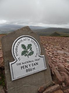 Pen-y-fan sign, Brecon Beacons, Black Mountains, Wales.