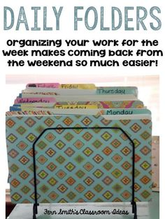 Organizing Your Students' Work for the Week!