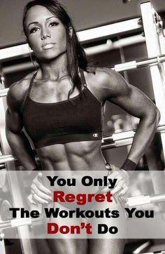Do NOT skip a workout.
