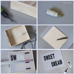 DIY Light box reciclando una caja de vino