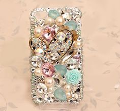 Cell Phone Bling Kits | ... Alloy Bling clear Crystal DIY Cell Phone Case shell Cover Deco Den Kit