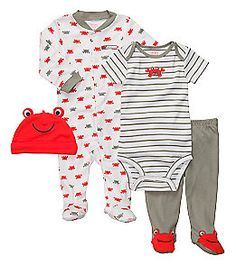 Product: Carter's® Baby Boys' Red/Gray 4-pc. Crab Set