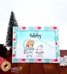 Christmas wishes stamp set Craftin Desert Divas