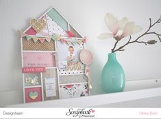 """Dekorierter Rahmen """"Cute"""" mit Crate Paper """"Confetti"""" & """"Hello Love"""" von Ulrike Dold Home Deko Tutorial Scrapbook Werkstatt"""