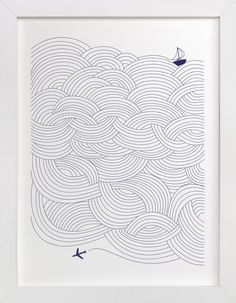 For the bedroom: Field of Waves by Papersheep at minted.com