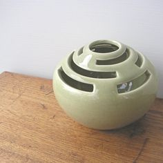 Vintage Pottery Flower Frog by Designs Carmel by fifthseason. , via Etsy.