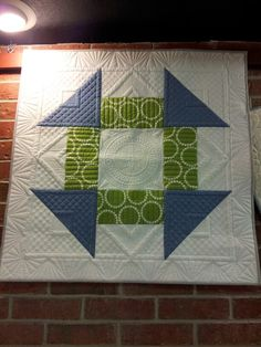 Quilted by Mindy Powell.I love what she did with the grids.