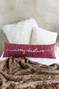 Would be cute in a master bedroom!  Add a little christmas charm. #christmas #pillow #ad