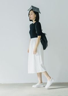 70 ideas for skirt white midi outfit Japanese Fashion, Asian Fashion, Look Fashion, Girl Fashion, Style Outfits, Cute Outfits, Fashion Outfits, Fashion Trends, White Midi Skirt