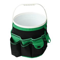 #Apollo #Precision #Tools #DT0825 5-Gallon #Bucket #Garden #Tool #Organizer, Black/Green Abrasion resistant 600D cloth 14 inside pockets, 34 triple row outside pockets Fits any standard 5 gallon #bucket (bucket and #tools not included) https://homeandgarden.boutiquecloset.com/product/apollo-precision-tools-dt0825-5-gallon-bucket-garden-tool-organizer-black-green/