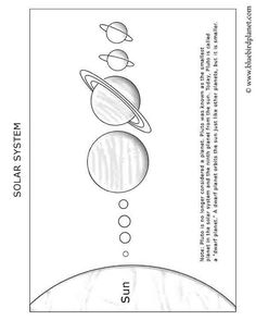 Free printable worksheets for preschool, Kindergarten, 1st, 2nd, 3rd, 4th, 5th grades. Solar System- blank.