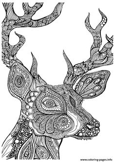 print adult coloring pages deer coloring pages