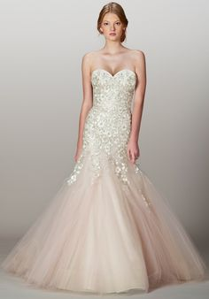 Italian embroidered tulle with Swarovski crystals drop-torso sweetheart mermaid gown