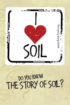 I Love Soil stickers
