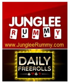 Join daily freeroll tournaments without any entry fee @ www.jungleerummy.com and win real cash money!