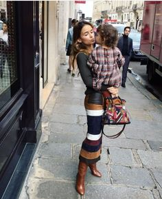 Great skirt and boots