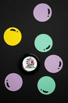 badge cross stitch bubble bobble