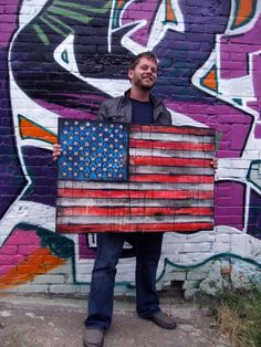 Sha-Zam! American flag painting by Garrett Weider. Check my site for availability.  http://www.etsy.com/shop/GarrettWeider