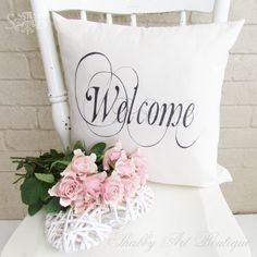 easy sharpie pen cushion, crafts, Unbleached Muslin Calico is thin enough to see through on a light box Sharpie Pens, Sharpies, Sharpie Crafts, Sharpie Projects, Chalk Paint Chairs, Diy Planter Box, Fancy Fonts, Diy Plant Stand, Wreath Forms