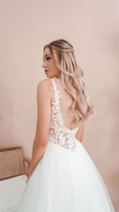 Miss Scarlett Label is a collection of all-white debutante gowns that boasts intricate laces, delicate fabrics and beautiful contemporary designs. Deb Dresses, All White, Serendipity, Contemporary Design, Gowns, Wedding Dresses, Lace, Beautiful, Collection
