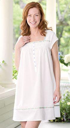 Lanz Heart Trim Nightgown