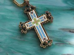 Love this Vintage Cloisonne Cross at GoodNeighborVintage ♥