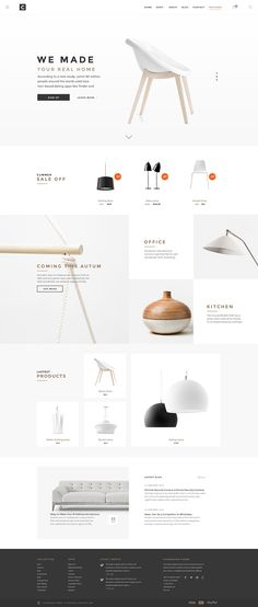 Chameleon Shop PSD Template is an unique eCommerce PSD template for on online shopping store. Designed base on free font, resizable vector icons with clean and simple UI, this optimised for furniture and home goods store… Web Flat Design, Ios App Design, Web Design Trends, Web And App Design, Web Design Mobile, Web Mobile, Minimal Web Design, Interface Design, Clean Web Design