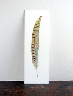 Pheasant Feather Original Watercolor Painting