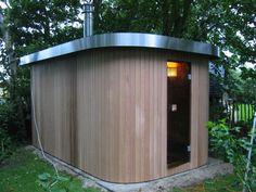 Cerdic houten buiten Sauna - Product in beeld - - Startpagina voor badkamer ideeën   UW-badkamer.nl
