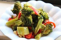 Garlic Roasted Broccoli and Red Peppers - © Miri Rotkovitz
