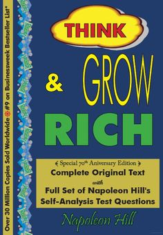 Think and Grow Rich: Complete Original, Unaltered Text : Special 70th ... - Napoleon Hill - Google Books