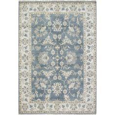 Ecarpetgallery Hand-knotted Royal Ushak Blue Wool Rug (6'2 x 9')